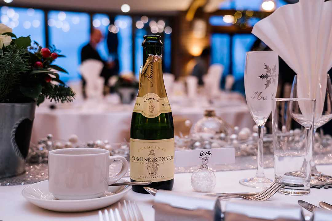 Champagne on a table